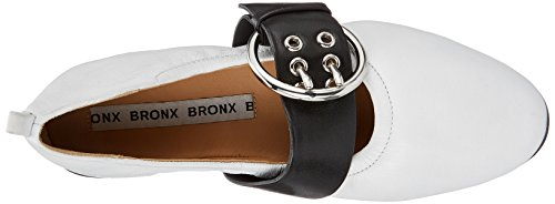 Femme Blanc Bout Bx 1472 Ballerines Fermé Bsinnerx 978 Bronx black white w01qRfxYnW