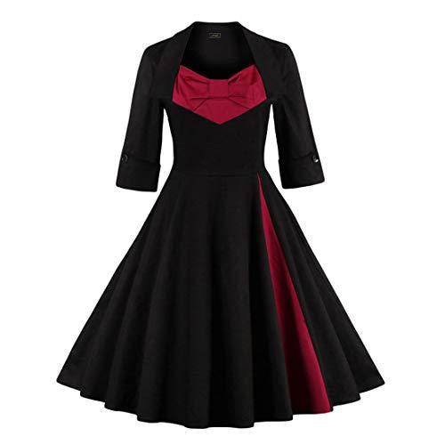 La De Mujer Sijux Floral Vendimia Patinaje Línea Y En Estampado Black Flecos Vestido 50s Falda Fiesta Para Rockabilly Con 60s qT5gTB4Wz