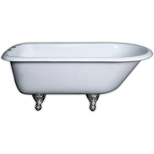 Cambridge plumbing rolled rim claw foot bathtub for Bathtub material comparison