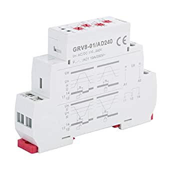 AD240 GRV8-01 Single Phase Monitor Relay GRV8-01 Keenso Adjustable Voltage Monitoring Relay Over Voltage Protection AC//DC Voltage Monitoring Relay A220V// D12V// AD48V// AD240V