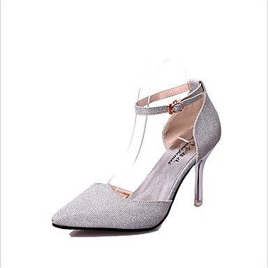 Talones de las mujeres Zapatos Primavera Verano Otoño Invierno club Comfort PU del brillo Oficina Boda Carreras y vestido de noche ocasional de tacón de aguja White
