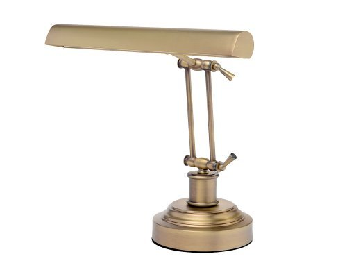 (Cocoweb DLED14AB LED Piano/Desk Lamp, Antique Brass)