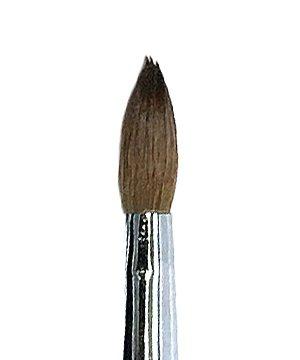 - Professional Premium Kolinsky Acrylic Nail Brush Round Crimped #16 Short Handle