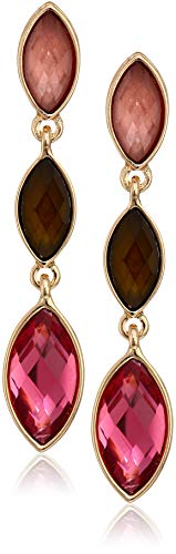 Klein Gold Earrings Tone Anne (Anne Klein Women's Gold Tone Multi Stone Drop Earrings, Size: 0)