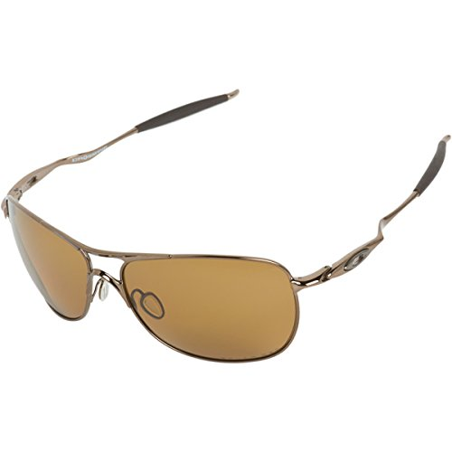 oakley crosshair polarised brown chrome sunglasses  oakley mens crosshair oo4060 04 polarized oval sunglasses,brown chrome frame/bronze polarized lens,one size in the uae. see prices, reviews and buy in dubai