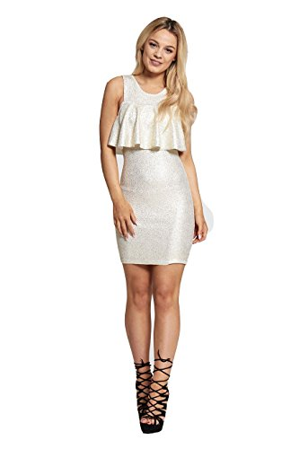 7 Fashion Road Damen Schlauch Kleid silber silber