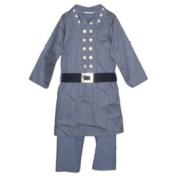 KIDS CIVIL WAR CONFEDERATE OFFICER COSTUME OUTFIT YOUTH