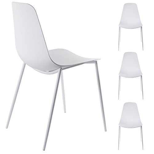 Alessia White Dining Chairs LL CH1661 WHITE