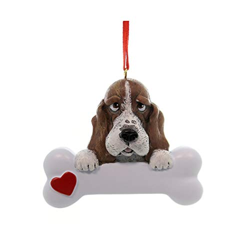 Personalized Basset Christmas Tree Ornament 2019 - Dog Big Heart Paw Pure Love Well-Behaved Stubborn Waddle Droopy Eyes Floppy Ear Proud Play Fur-Ever New Loyal Family R.i.p. - Free Customization