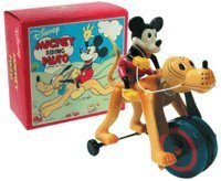 Schylling Disney Mickey Mouse & Friends ''Mickey Riding Pluto Wind-up Tin Toy by Retro Collection Schylling Toys since 1975