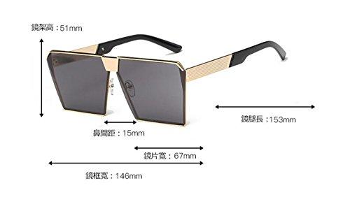 en y frame gafas GLSYJ las sol moda gato Silver Europa de la blue coreano sol Ojos cajas de LSHGYJ Estados cuadrado ice de los Unidos sol Versión gafas grandes gafas de vEwvYf