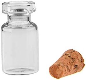 OSAYES 50PCS 0.5ml Tapones de Corcho Botellas de Vidrio Decoración ...