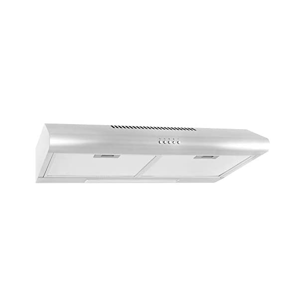 Cosmo 5MU30 30 in. Under Cabinet Range Hood with Ducted / Ductless Convertible Duct, Slim Kitchen Stove Vent with, 3… 1