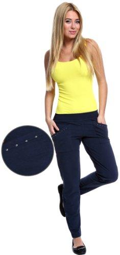 Italian Fashion IF Pantalones de Deporte para Mujer Rea Azul Oscuro/Cristal