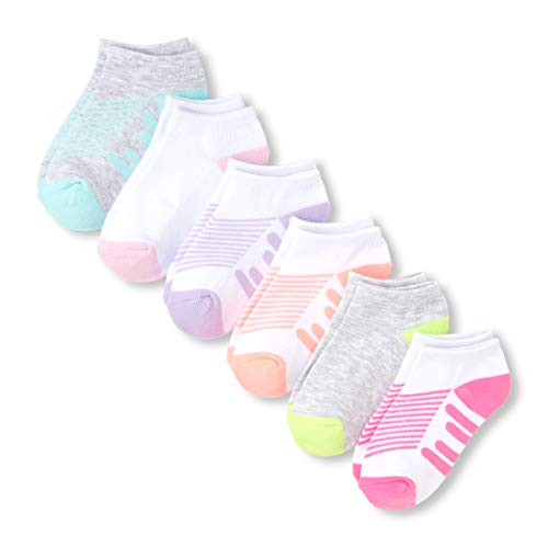 - The Children's Place Girls' Big 6 Pack Striped Novelty Socks, multi CLR, M 1-2
