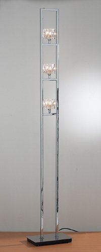 Floor lamp in polished chrome ice cube glass ctda amazon floor lamp in polished chrome ice cube glass ctda aloadofball Gallery