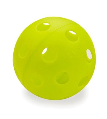 Athletic Specialties Heavy Duty Extra Tough Perforated Softballs (Neon Green), Pack of 12 by Athletic Specialties