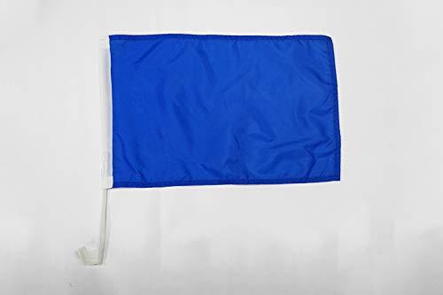 EINFARBIG AUTOFLAGGE 30 x 45 cm Auto flaggen AZ FLAG AUTOFAHNE EINFARBIG BLAU 45x30cm