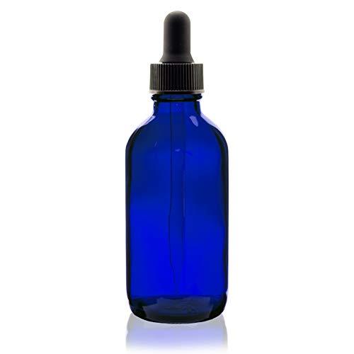 Premium Vials B37-pk24 Boston Round Glass Bottle with Dropper, 2 oz Capacity, Blue (Pack of 24)