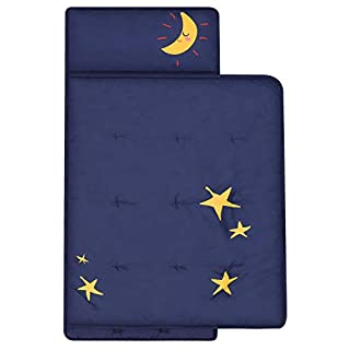 TILLYOU Toddler Nap Mat with Pillow for Kids, Daycare and Preschool Age 2-4 Unisex
