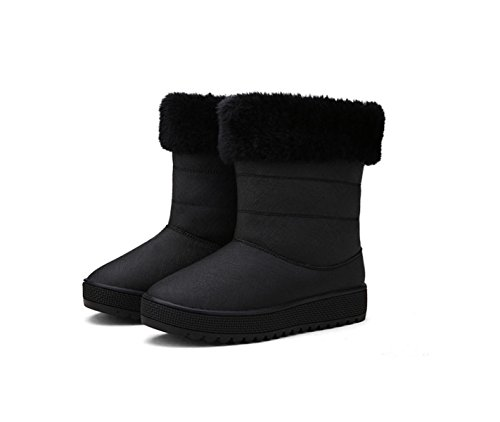 GTYW Ladies High Heels Women's Boots Ladies Winter New Women's Shoes Tube Boots Thickened Thick Bottom Snow Boots Cotton Shoes Black