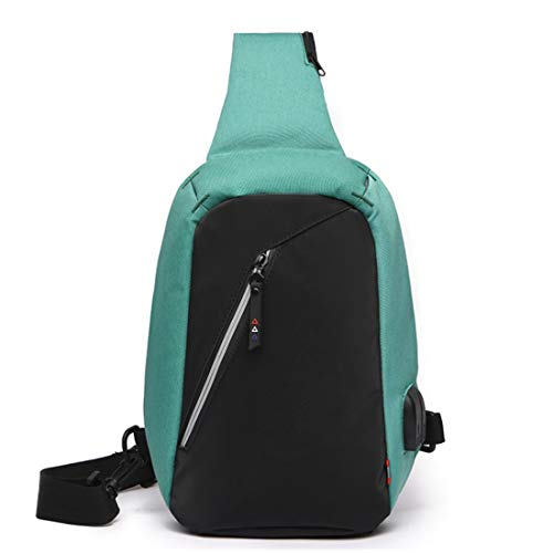 Chest Multifuncional Ciclismo Crossbody De Shoulder Dog Daypacks Para Hiking Green Bag color Triángulo Black Walking Travel Weatly Sling Bolsillo E0wgz1qx7n