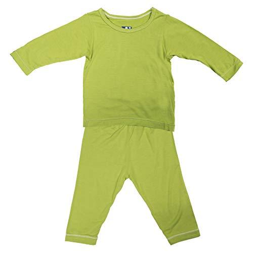 Kickee Pants Baby Boys' Basic Long Sleeve Pajama Set in Meadow, 12-18M ()