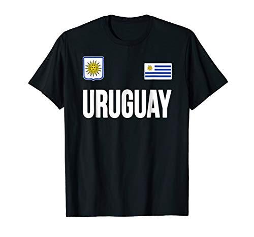 Uruguay T-shirt Uruguayan Flag Soccer Futbol Fan Jersey