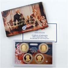2008 Proof Presidential Dollar Set in Original US Government Packaging