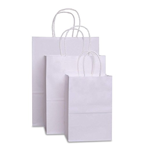 - BagDream Kraft Paper Bags 5x3x8& 8x4.75x10& 10x5x13 25 Pcs Each, Gift Bags, Kraft Bags,Shopping Bags with Handles, Paper Shopping Bags, Craft Bags, Merchandise Bags, 100% Recyclable Paper