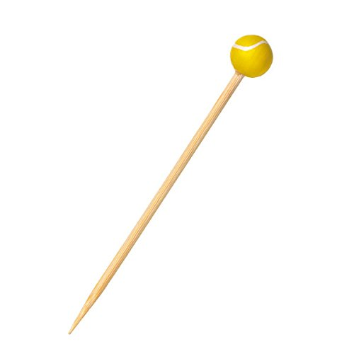 "Packnwood Sports Themed Bamboo Pick Skewer, Tennis, 4.72""..."