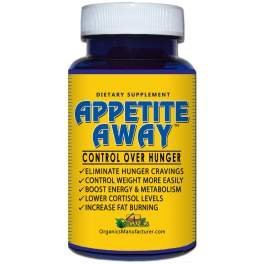 APPETITE AWAY Appetite Suppressant Weight Loss Supplement - 30 Caps - 5 Pack by 4 Organics