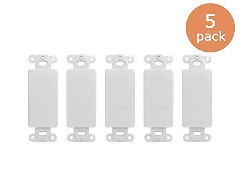 (Tricom Quickport Decora Wall Plate Keystone Insert (5 Pack, Blank) )