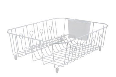 (Rubbermaid Dr FBA_6032-AR-WHT 6032ARWHT Large White Dish Drainer)