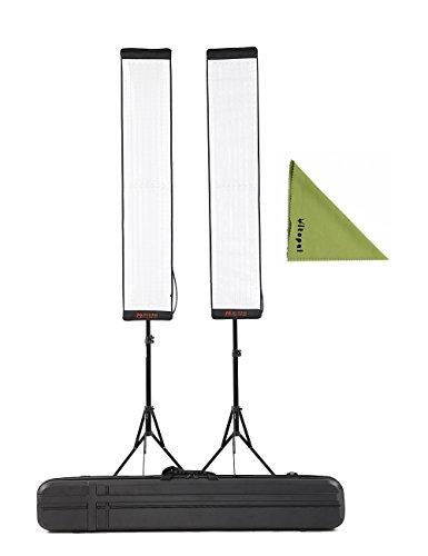 FalconEyes 2Kit RX-29TDX Bi-Color Dimmable 3000K-5600K 100W Waterproof Flexible Studio Light with Light Stand (2Kit 29TDX)