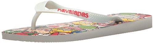 Havaianas Slippers Flops Flip - Havaianas Men's Mario Bros Flip Flop Sandal,White, 43/44 BR(12-13 M US Women's / 11-12 M US Men's)
