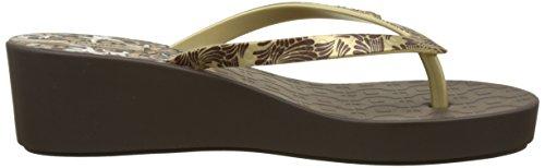 Fem Plataforma Iii para Ipanema Art Deco con Sandalias Mujer Gold Marron Brown qxwqt1EY
