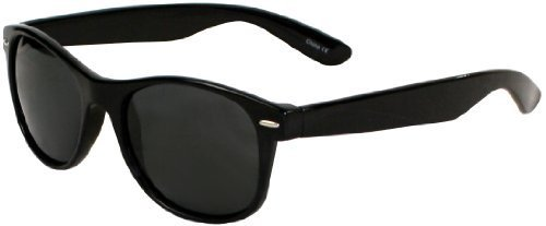 Polarized It's All Good Apollo Sunglasses (Shiny Black, Smoke Lens)