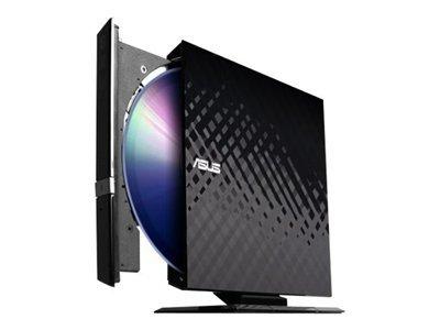 ASUS SDRW-08D2S-U/B/G/ACI/AS SDRW 08D2S-U - Disk drive - DVD±RW (±R DL) / DVD-RAM - 8x/8x/5x - Hi-Speed USB - external - black