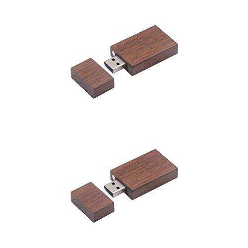 MagiDeal 2Pcs(8G+4G) Maple Wood Cuboid Memory Stick Data Storage High Speed Universal