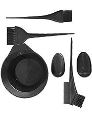 Hårfärg set verktyg med blekmedel Bland skål kam mode hårfärg borste kit 5st