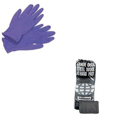 KITGMA117000KIM55082 - Value Kit - Global Material Technologies Industrial-Quality Steel Wool Hand Pad (GMA117000) and KIMBERLY CLARK PURPLE NITRILE Exam Gloves (KIM55082) by Global Material Technologies (Image #1)
