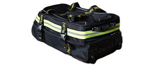 Fireflex Firefighter Rolling Travel Bag (Black) by Firefighters Merchandise (Image #2)
