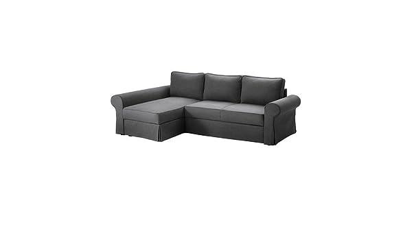 IKEA BACKABRO - Cubierta sofá-cama con chaise longue - 60x37 ...