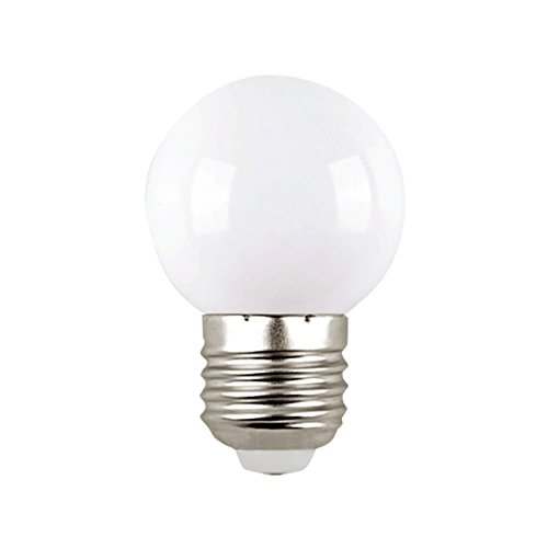 OurLeeme E27 Mini bombillas LED, 0.5W Bombillas ahorros de energía Globo Screw Bulb, Blanco: Amazon.es: Iluminación