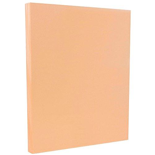 JAM PAPER Vellum Bristol 67lb Cardstock - 8.5 x 11 Coverstock - Peach - 50 -
