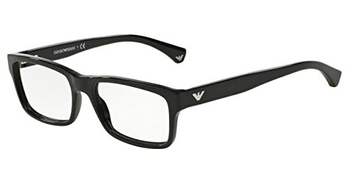 Emporio Armani EA 3050F Men's Eyeglasses Black 55