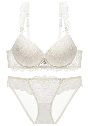 Lace Bodysuit Gaga Lady - GAGA Women Fashion 2 Piece Sexy Lace Lingerie Bra and Panty Set Babydoll Bodysuit White 38C
