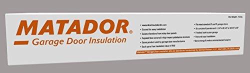 Matador Garage Door Insulation Kit, Designed for 7 Foot Tall Door up to 9 Feet Wide