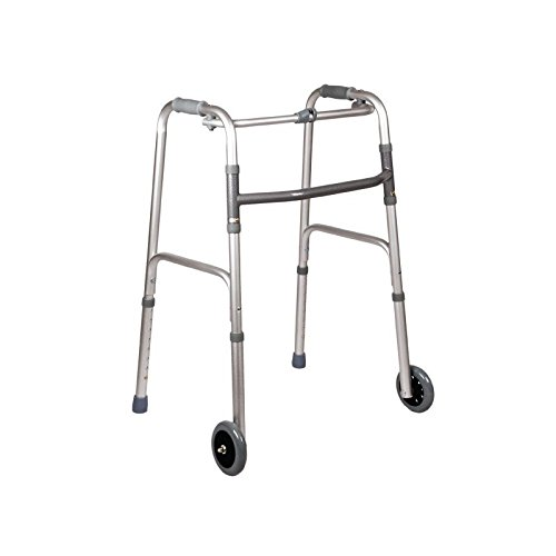 Fijo plegable marco a pie con dos fijada y dos ruedas ...